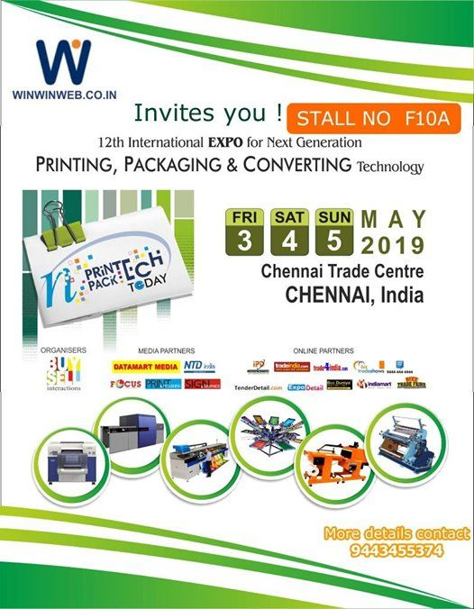 12th International of N Printech N Packtech Today 2019 at