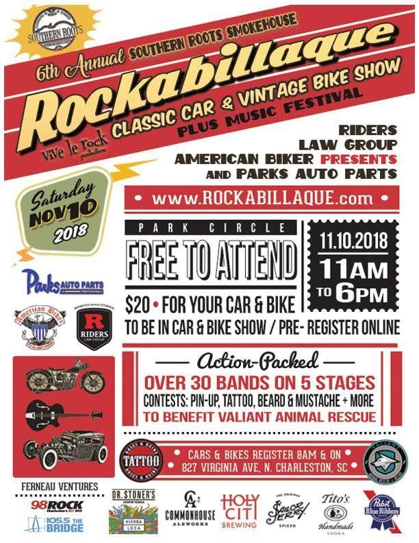 Th Annual Rockabillaque Classic Car Vintage Bike Show At Southern - Charleston car show calendar