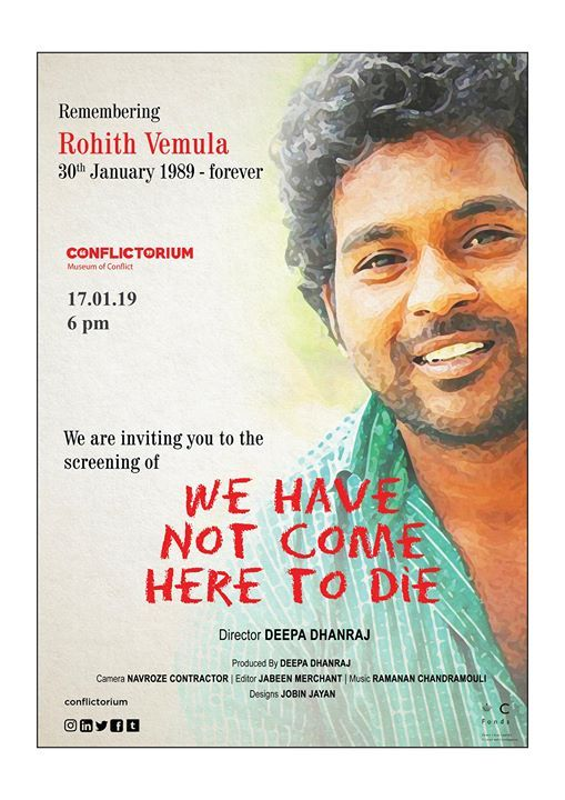 Cinema ghar presents We have not come here to die
