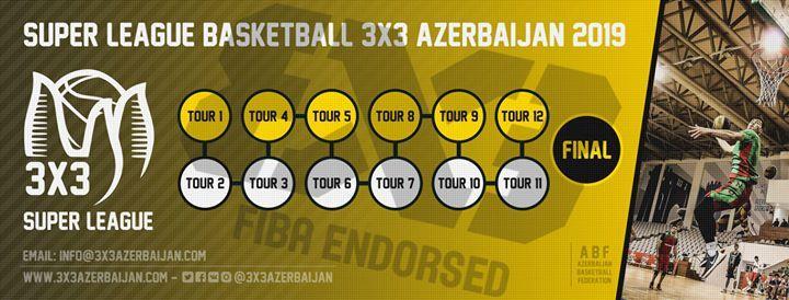 Super League Basketball 3x3 Azerbaijan 2019 - Tour 1