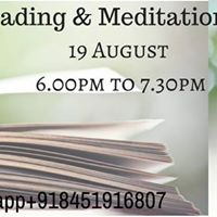 Book Reading &amp Meditation Session 19 August