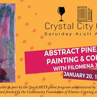 Crystal City Creators Abstract Pineapple Painting &amp Collage
