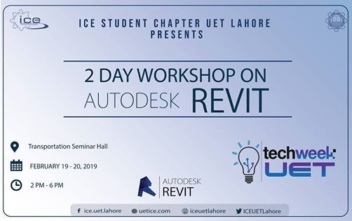 2 Day Workshop on Autodesk Revit at UET LahoreLahore
