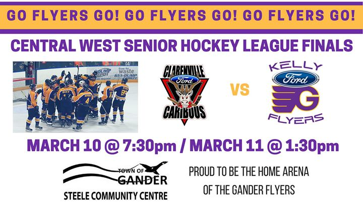Kelly Ford Gander >> Clarenville Caribous Vs Kelly Ford Gander Flyers At Steele