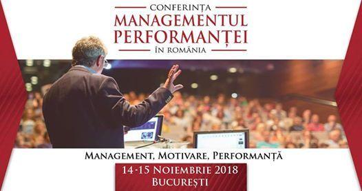 Conferinta Managementul Performantei in Romania 2018