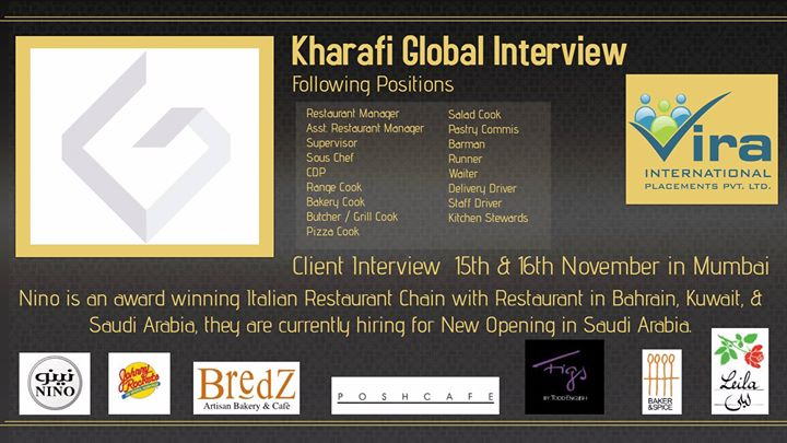 Kharafi Global Interview at Vira International Placements