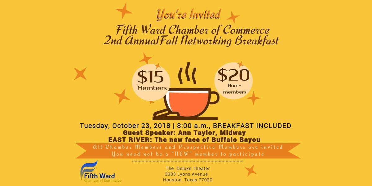 Fifth Ward Chamber of Commerce 2nd Annual Business Networking Breakfast
