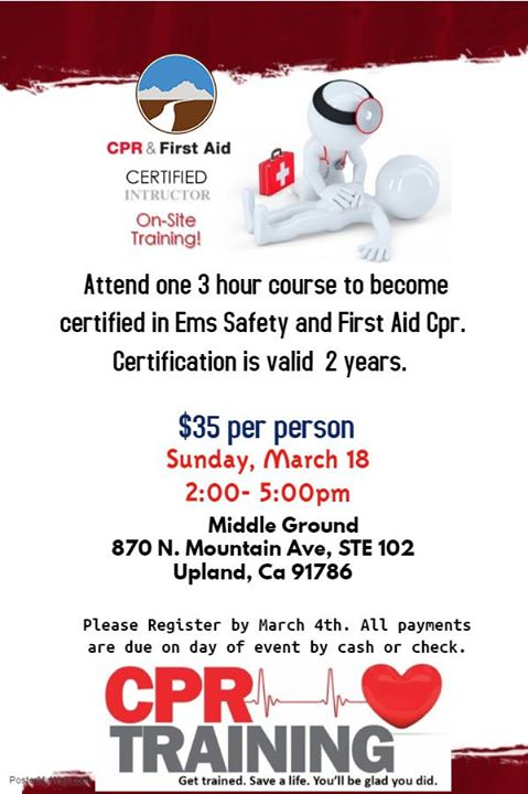 Middle Ground Cpr Training Course Upland