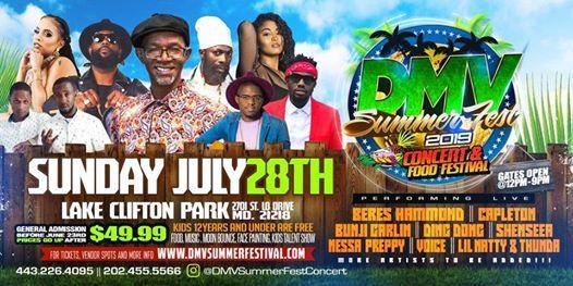 DMV SUMMER FEST 2019 Concert & Food Festival