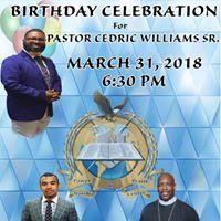 31st Birthday Celebration Honoring Pastor Cedric Williams