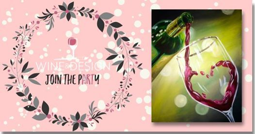 Paint Sip Wine Lover At Wine Design Clayton Nc14 Flowers