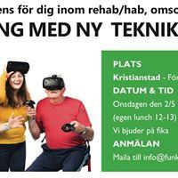 Minikonferens fr rehabhabilitering - trna med ny teknik