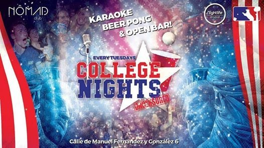 College Nights Karaoke Beer Pong & Open Bar at Nomad