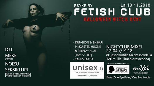 Rsyke Fetish Club Halloween 10.11.2018