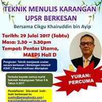 Teknik Menulis Karangan UPSR Berkesan Bersama Cikgu Khairuddin