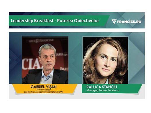 Leadership Breakfast - Puterea Obiectivelor