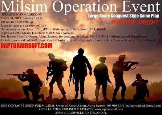 Milsim Operation Event - Large scale conquest style gameplay
