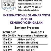 Doshu K.Yoshigasaki KI Aikido Seminar Osijek-Croatia