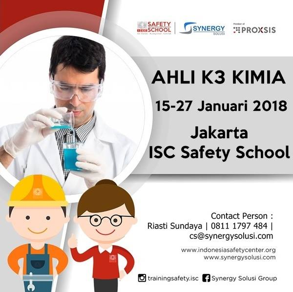 Training Ahli K3 Kimia Tanggal 15-27 Jan 2018