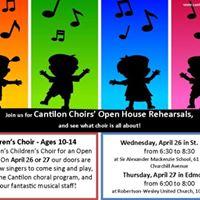 Cantilon Choirs Open House Rehearsals - Childrens Choir