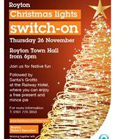 Royton Christmas Lights Switch On