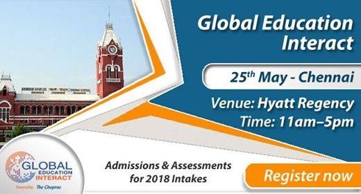 Welcome To Global Education Fair 2018 Chennai By The Chopras