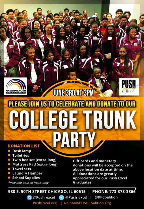 PUSH Excel HOSTS College Trunk Party At Rainbow Coalition Chicago