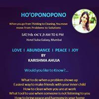 Hooponopono Zero State Workshop