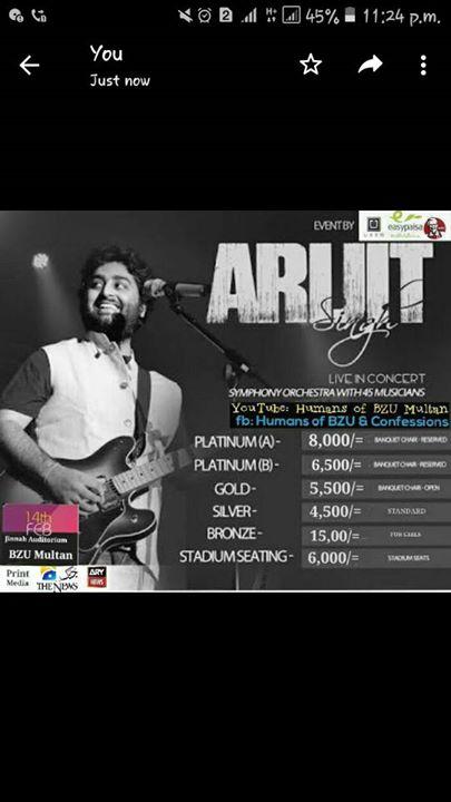 Arijit Singh Live In Multan