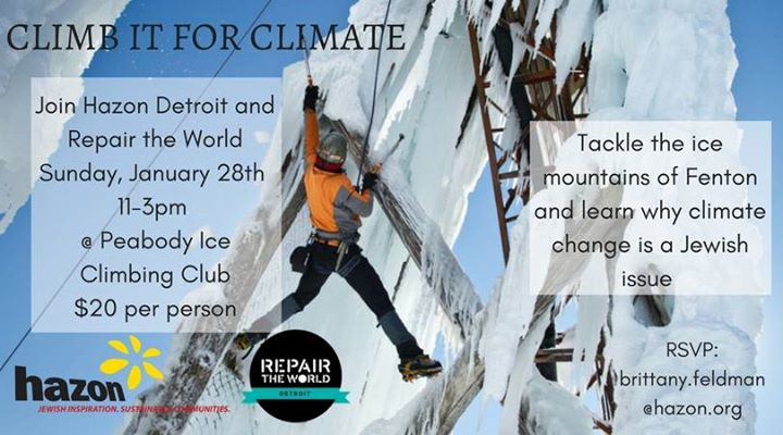 Climb it for Climate at Peabody Ice Climbing, Fenton