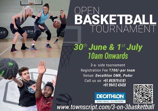 Open 3-a-side Basketball Tournament