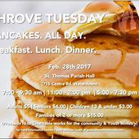 Shrove Tuesday Pancake Feast