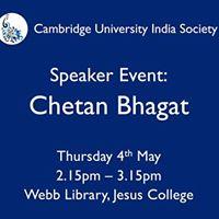 CUIS Speaker Event Chetan Bhagat