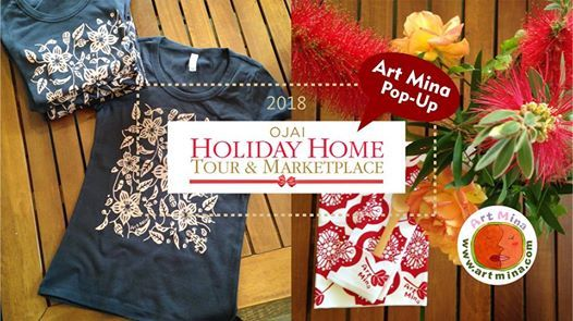 OjaiArt Mina pop-up at Ojai Holiday Home Tour & Marketplace