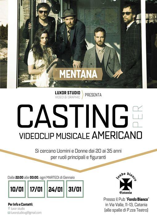 Casting per videoclip musicale dei Mentana