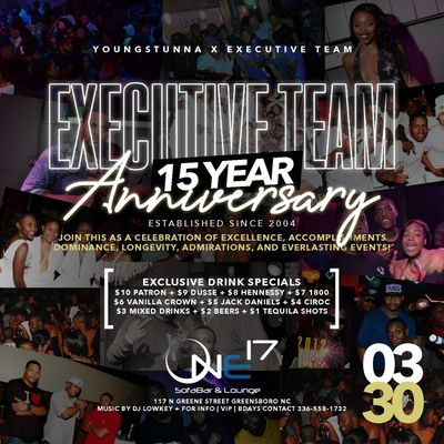15 Year Anniversary Party