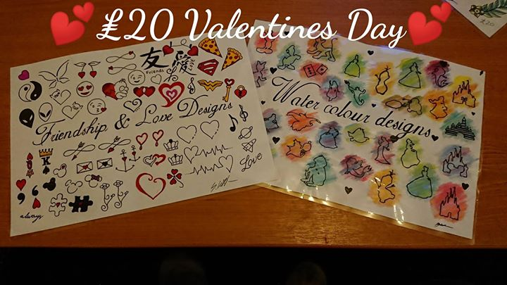 20 Tattoo Valentines Day 14th Feb At Inkspiration Tattoo Studio