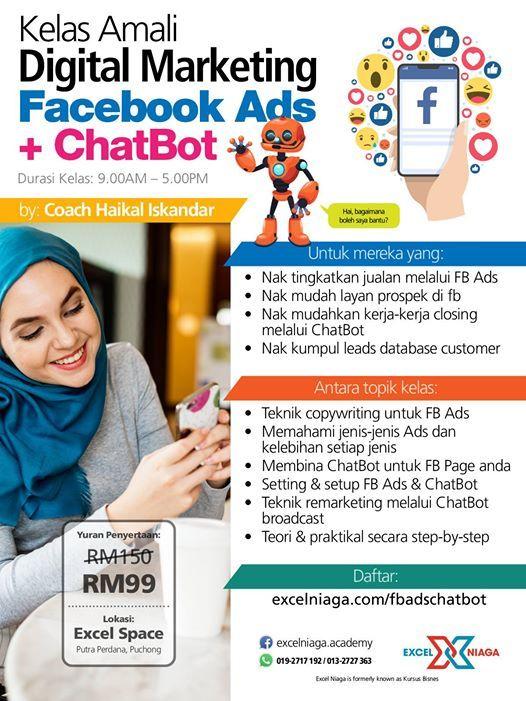 KELAS DM Facebook Ads  Chatbot (24 Jan 2019 - Khamis)