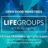 LifeGroups Leader Training