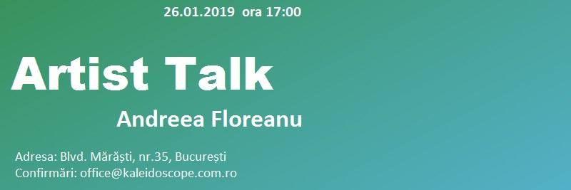 Artist Talk  Andreea Floreanu