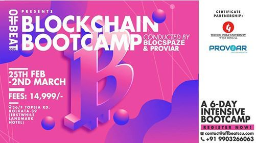 Blockchain Bootcamp wCertification