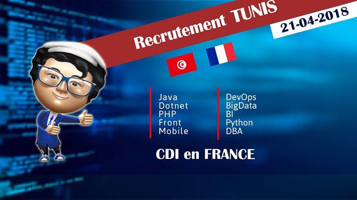 Campagne de recrutement Sintegra Samedi 21 Avril 2018 sur Tunis