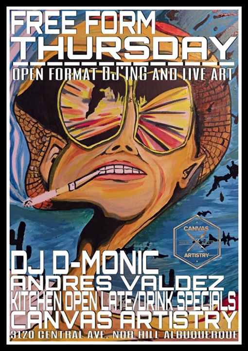 Free Form Thursday (open Format Djing and Live Art) @canvas