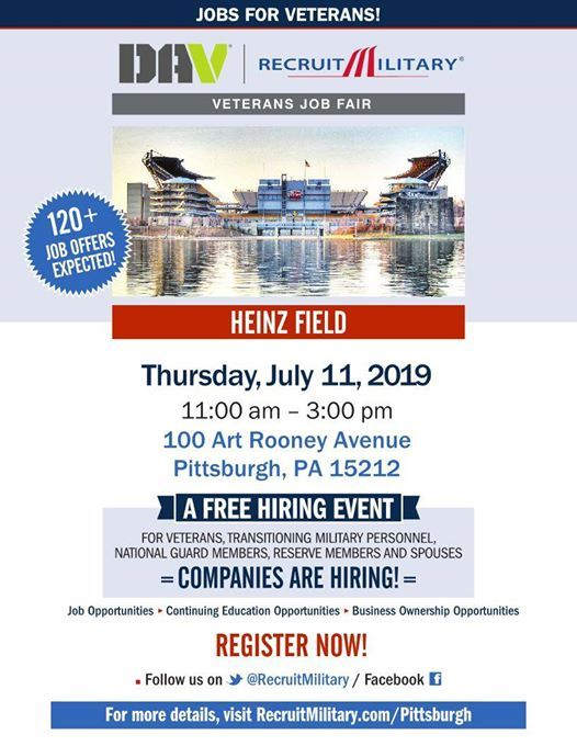 DAV RecruitMilitary Pittsburgh Job Fair at Heinz Field
