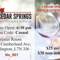 Wine Tasting at Cedar Springs