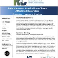 Awareness and Application of Laws Affecting Interpreters