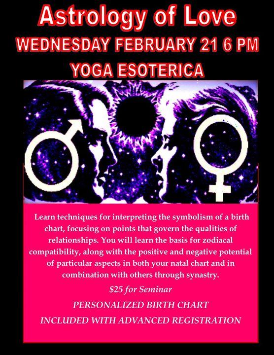The Astrology Of Love At Yoga Esoterica Philadelphia