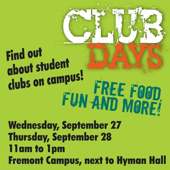 Club Days Find Out About Student Clubs On Campus At Ohlone College