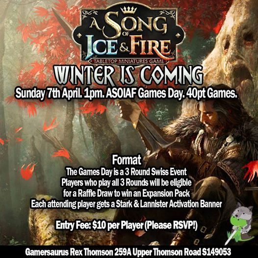 Winter is Coming - A Song of Ice & Fire Games Day