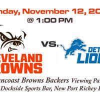 Browns vs Lions